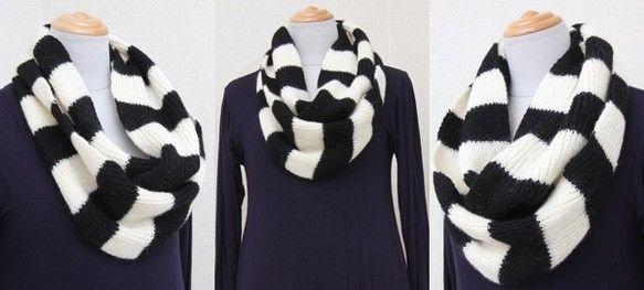 〈HandMade♪3pondS〉 ☆XMAS FAIR SPECIAL☆ これからの季節にオススメの100%ウールの手編みスヌード まっすぐ一目ゴム編みでぐ...|ハンドメイド、手作り、手仕事品の通販・販売・購入ならCreema。