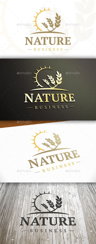 Wheat Sun Logo  EPS Template • Download ➝ https://graphicriver.net/item/wheat-sun-logo/10325798?ref=pxcr