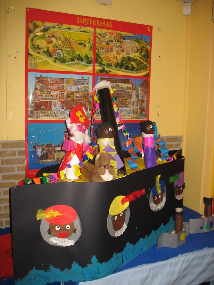 Stoomboot gemaakt door de kinderen van groep 2 van C.B.S. De Zonnewijzer uit Siddeburen!