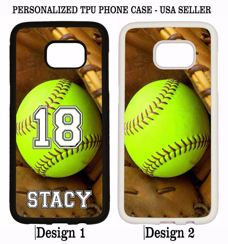 PERSONALIZED NAME NUMBER SOFTBALL PHONE Case For Samsung Galaxy S7 S6 NOTE 5 4 3 #UnbrandedGeneric