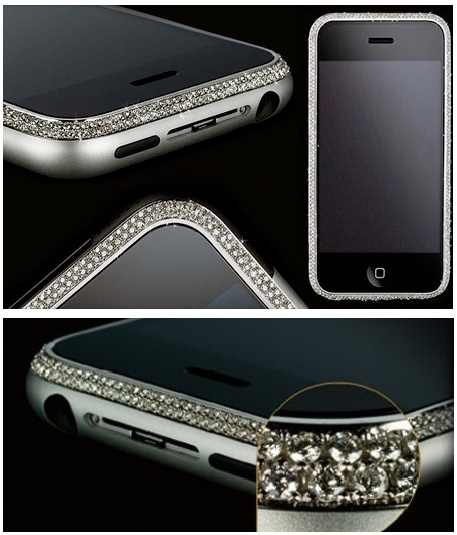 Ultimo iPhone.  1179 diamonds around the faceplate.  $400,000 at last check.