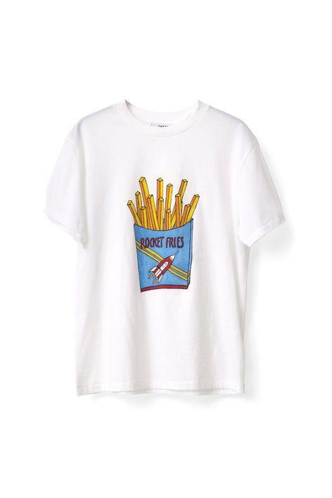 Berkeley T-shirt, Rocket Fries, Bright White