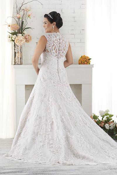 Plus size wedding dresses with purple trim paint