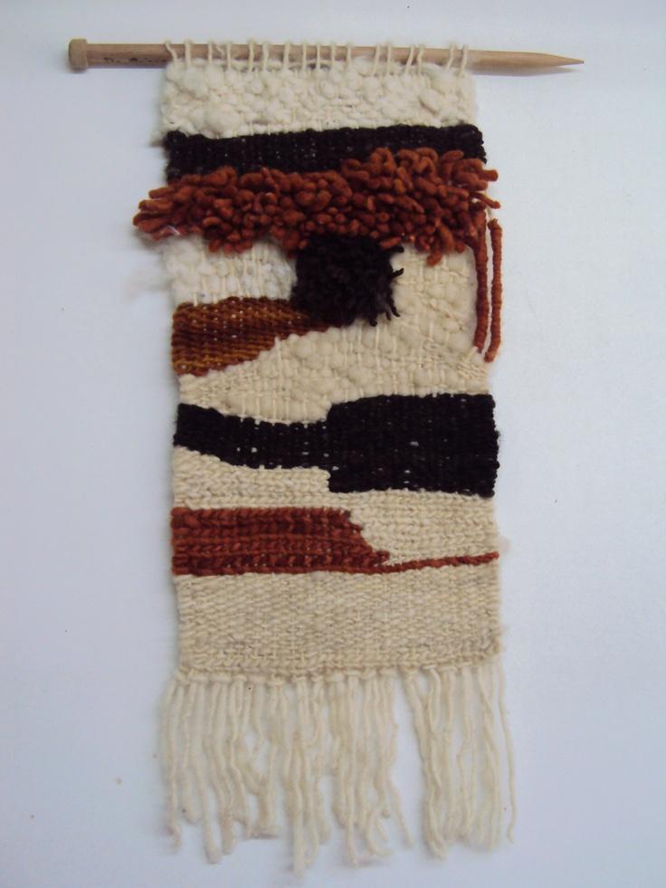 Decorative wall art #wool # woven #handmade
