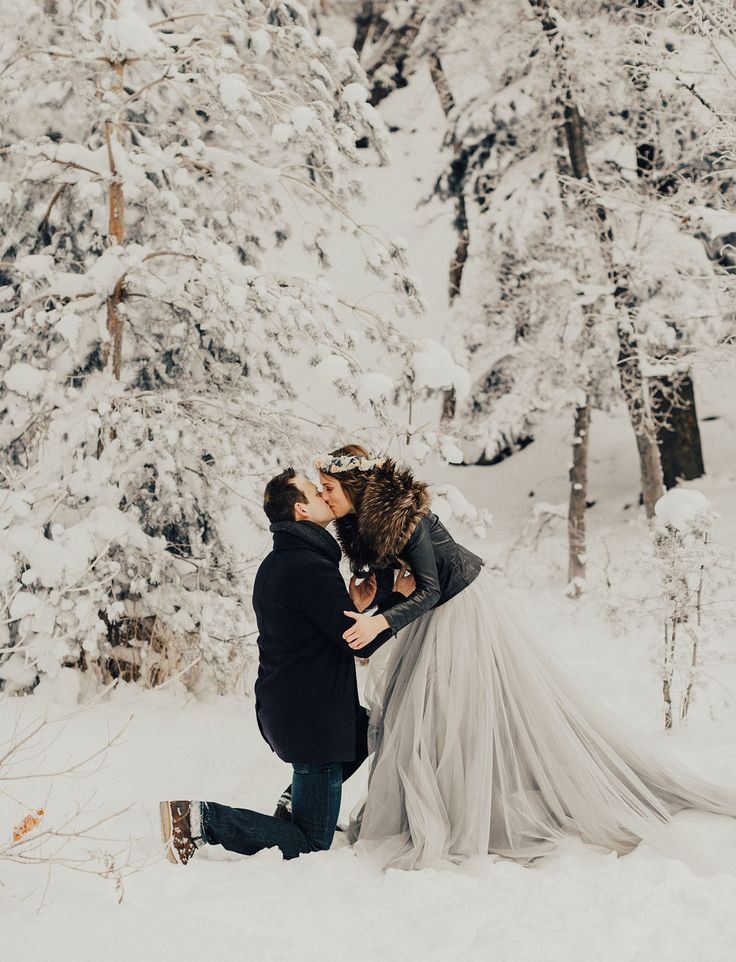 Surprise Winter Proposal | Chantel Lauren Dress