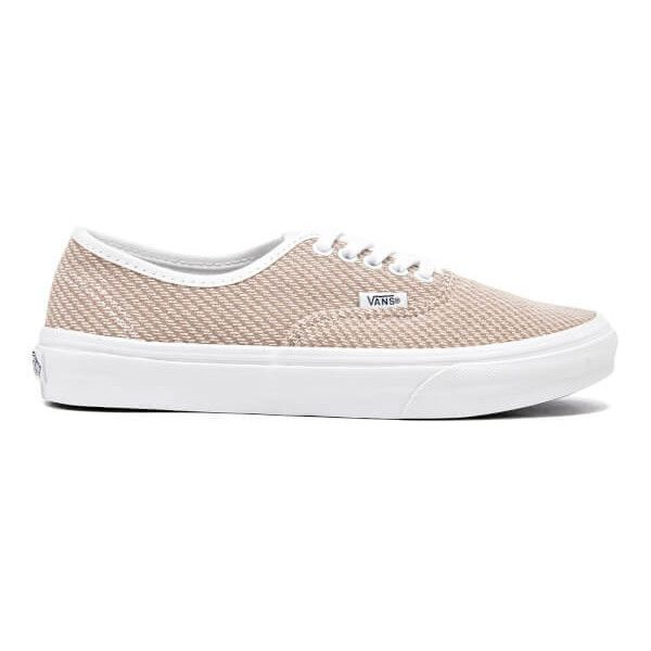 Vans Women's Authentic Slim Trainers - Smoke/True White (47,620 KRW) ❤ liked on Polyvore featuring shoes, sneakers, brown, white low tops, white lace up shoes, brown shoes, brown sneakers and vans shoes