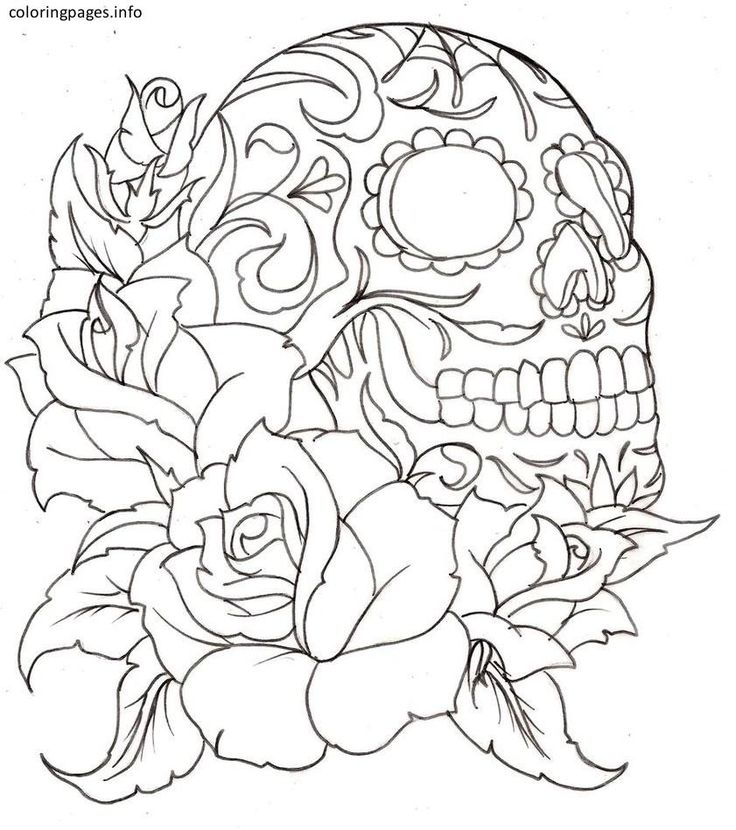 sugar skulls and roses coloring pages printable coloring pages sheets for kids get the latest free sugar skulls and roses coloring pages images - Sugar Skull Coloring Pages Print