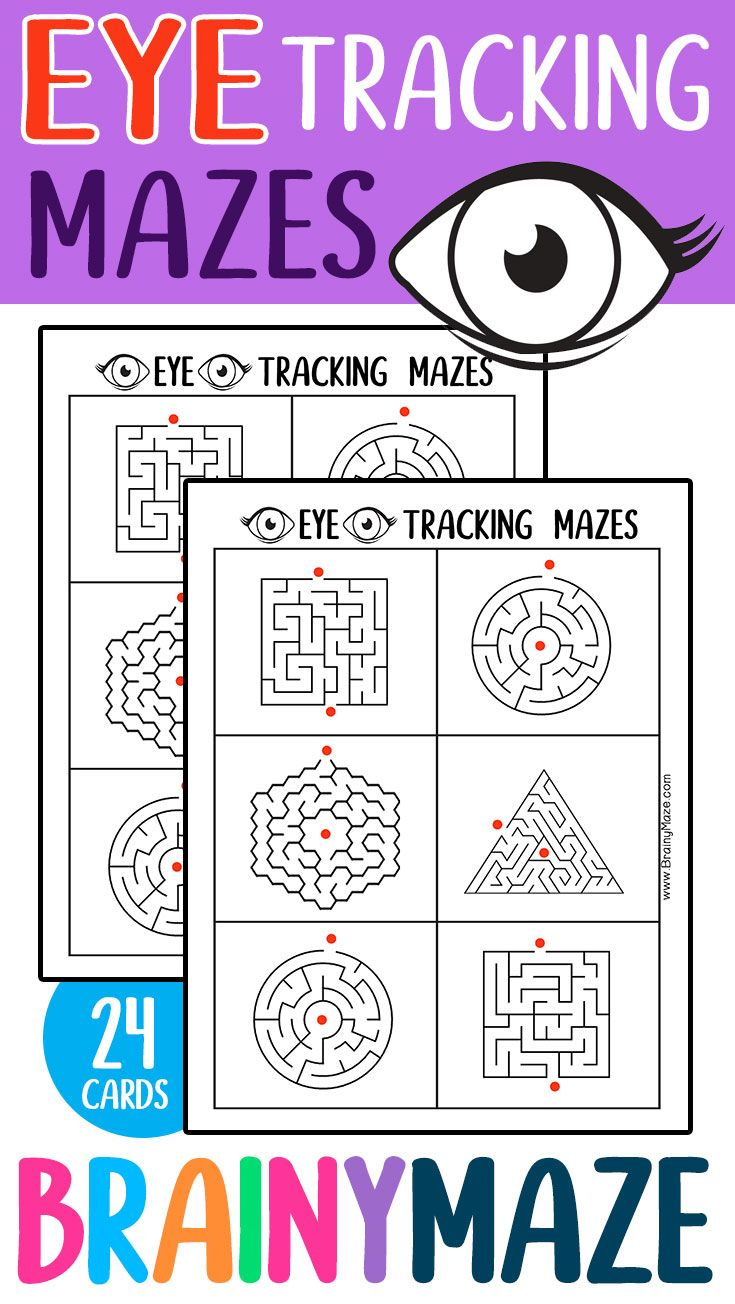 Visual Mazes Easy Eye Tracking Mazes Visual Perception Activities Vision Therapy Activities Eye Tracking [ 1304 x 735 Pixel ]