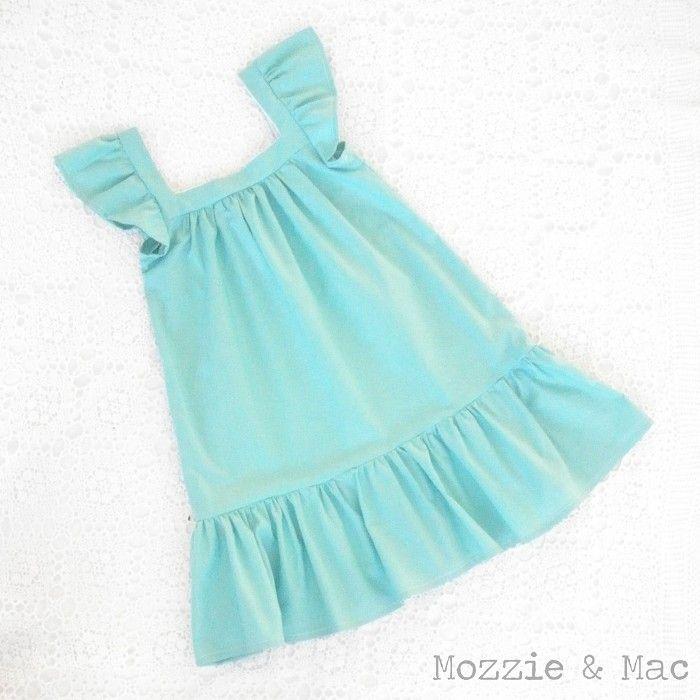 """""""Perfect Summer"""" Girls Seafoam Green Party Dress - Mozzie & Mac"""