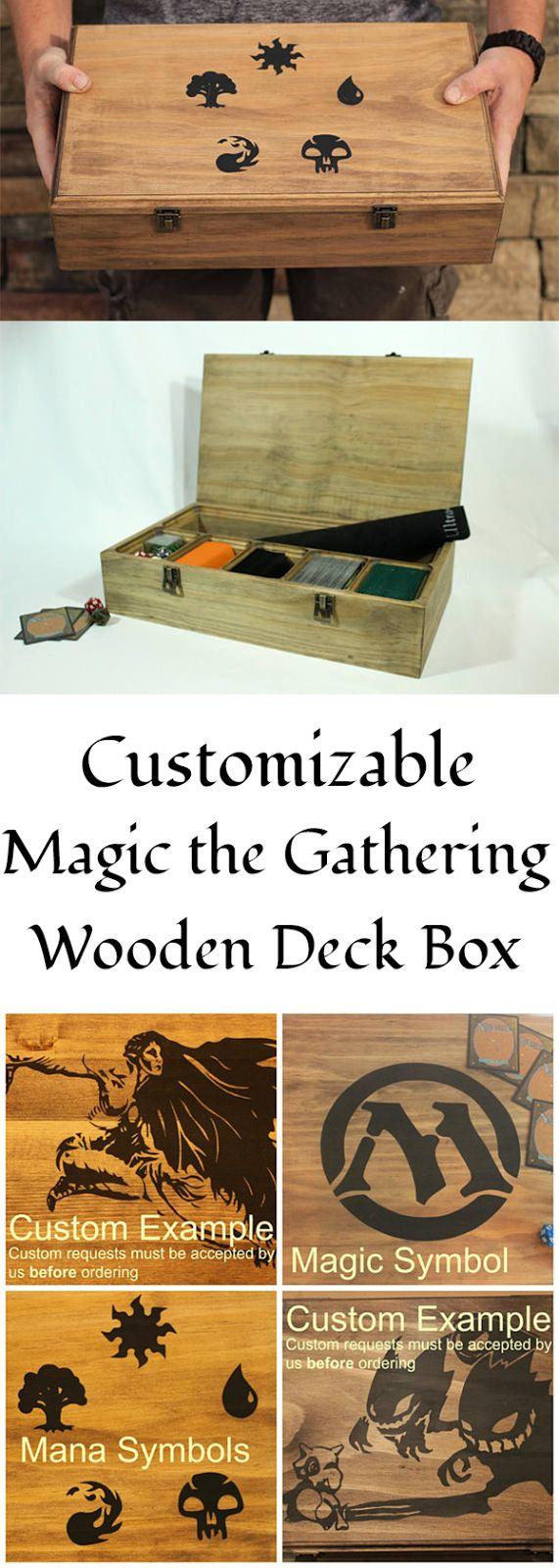 Magic the Gathering MTG Deck Box, Trading Card Organizer, Card Box, Custom Options Available #ad