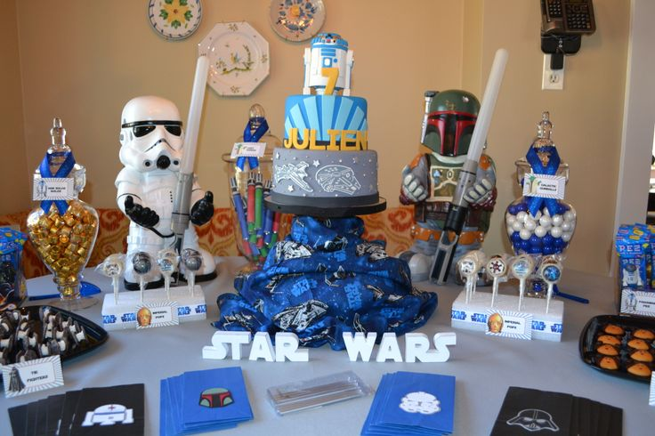 Star Wars Theme Cake Candy Buffet Kayden S 6th Bday