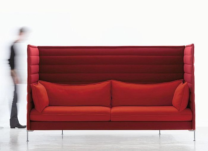 Just like the sofas from the abstergo office in assassins creed: black flag. I just need white pillows and $12,000  Vitra alcove highback sofa by Ronan & Erwan