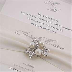 Ambiance~  An elegant Winter Wedding Invitation~  (Photo Credit: winterweddingdecor.com)  (410) 819-0046  www.maryannjudy.com