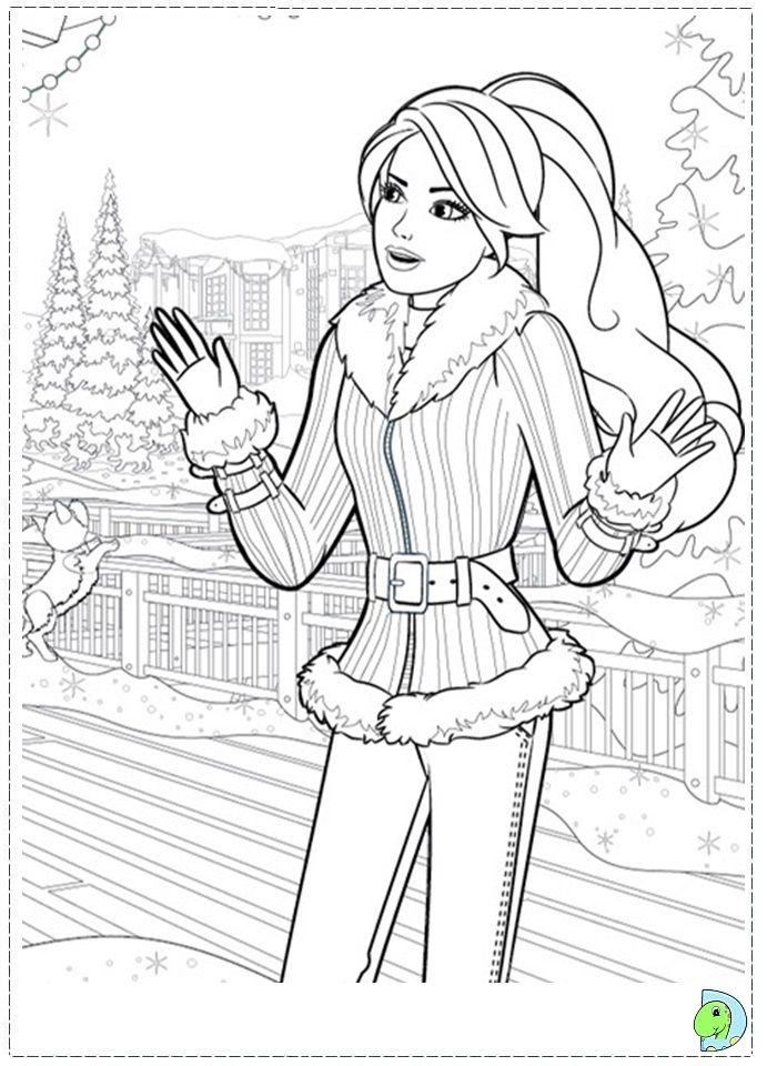 Barbie Christmas Colouring Pages L F0db6cdf789898b3 691x