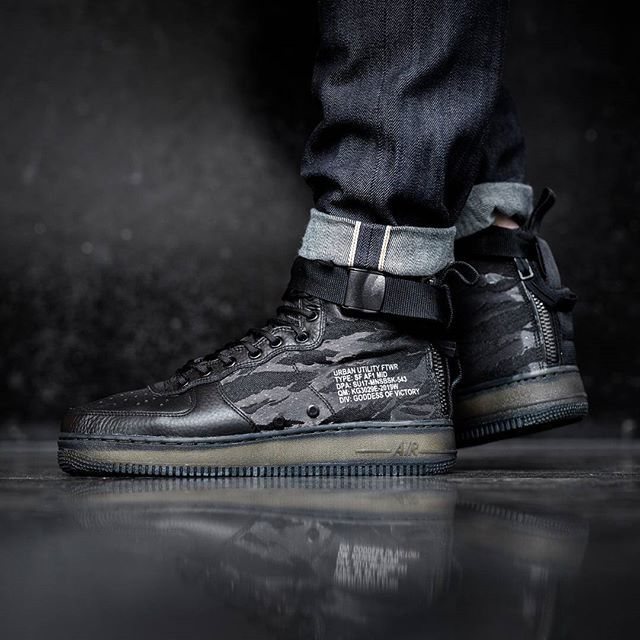 Built tough! The Nike SF Air Force 1 Mid drops June 8 through select Nike stockists including @titoloshop  via SNEAKER FREAKER MAGAZINE OFFICIAL INSTAGRAM - Fashion  Advertising  Culture  Beauty  Editorial Photography  Magazine Covers  Supermodels  Runway Models