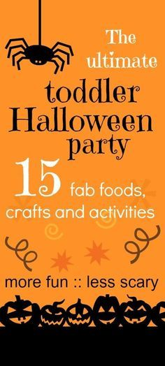 Fabulous toddler halloween party ideas :: halloween party games :: halloween activities for kids