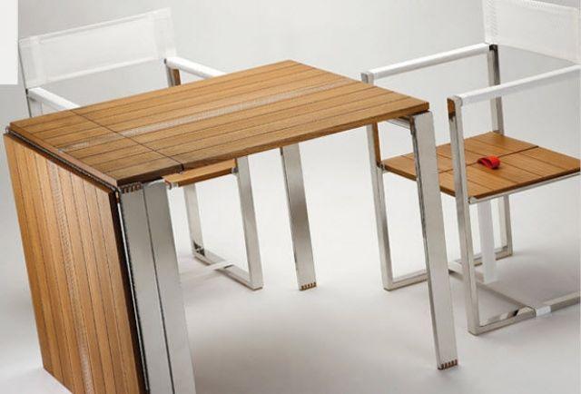 Gartentisch Klapptisch Holz Design Qui Pack Metallische Beine Klapptisch Klapptisch Holz Klappbarer Tisch
