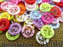 100 pz 13.5mm trasparente figura del fiore misto tinti tasti in resina stivali cucire vestiti accessori R-135-1(China (Mainland))