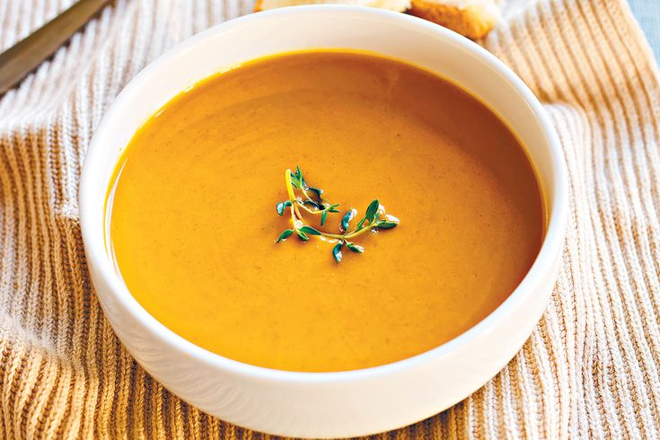 This pumpkin soup recipe works best cooked in a slow cooker. Add some chillies to give it a zing.