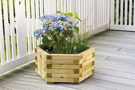 Oecoplan Bôite à fleurs vert 60x28 cm