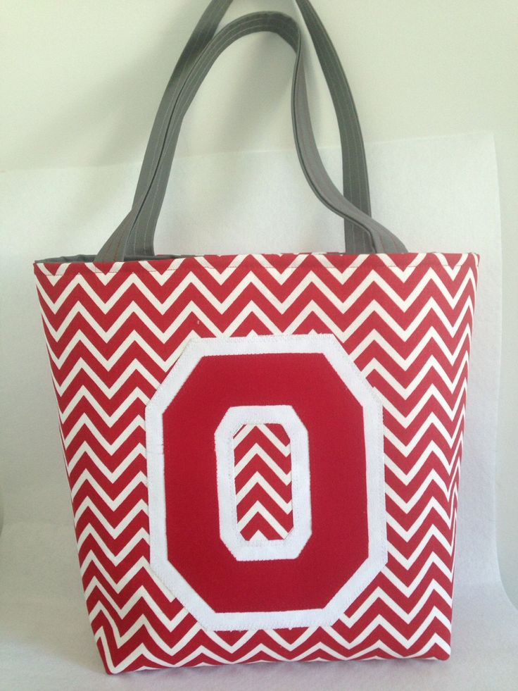 "OSU Ohio State Buckeyes small ""bucket"" tote bag / purse. by sassybratboutique on Etsy https://www.etsy.com/listing/209575348/osu-ohio-state-buckeyes-small-bucket"