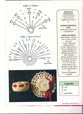 USHUAIA CROCHET: FRASCOS DECORADOS