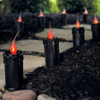 black candle halloween pathway markers could make these with the diy candles - Halloween Pathway Lights