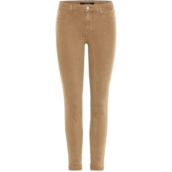 J Brand Anja Mid-Rise Cropped Skinny Jeans ($295) ❤ liked on Polyvore featuring jeans, brown, medium rise jeans, cropped jeans, j brand skinny jeans, cut skinny jeans and j brand