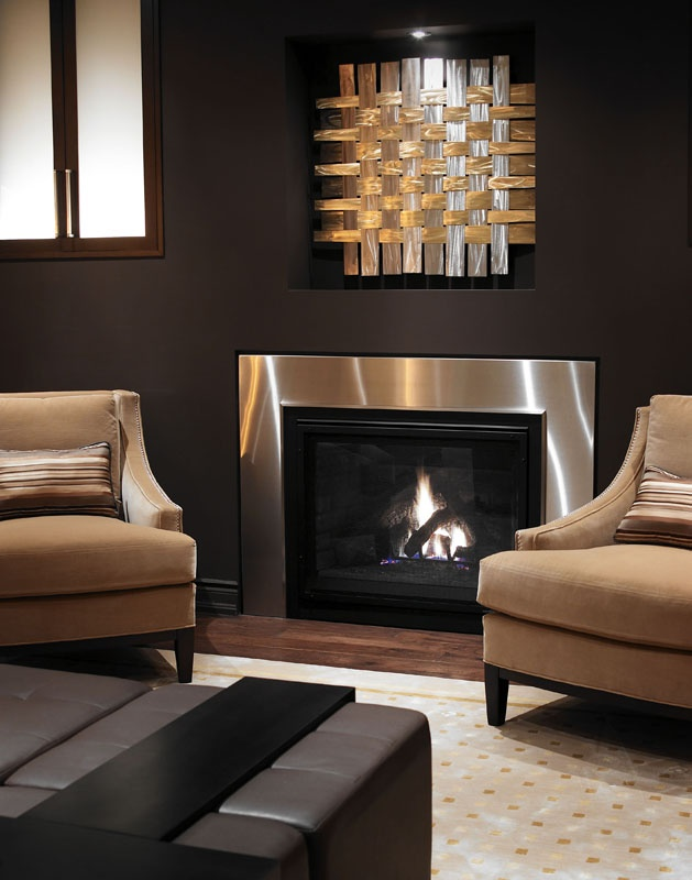 Regina Sturrock Design. I Love The Stainless Steel Fireplace Surround U0026 The  Art Installation Above