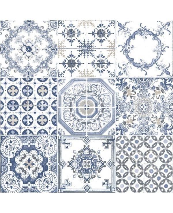 Behang Schuimvinyl Tegels Blauw J956-01 bestel je online bij Formido, de voordelige bouwmarkt