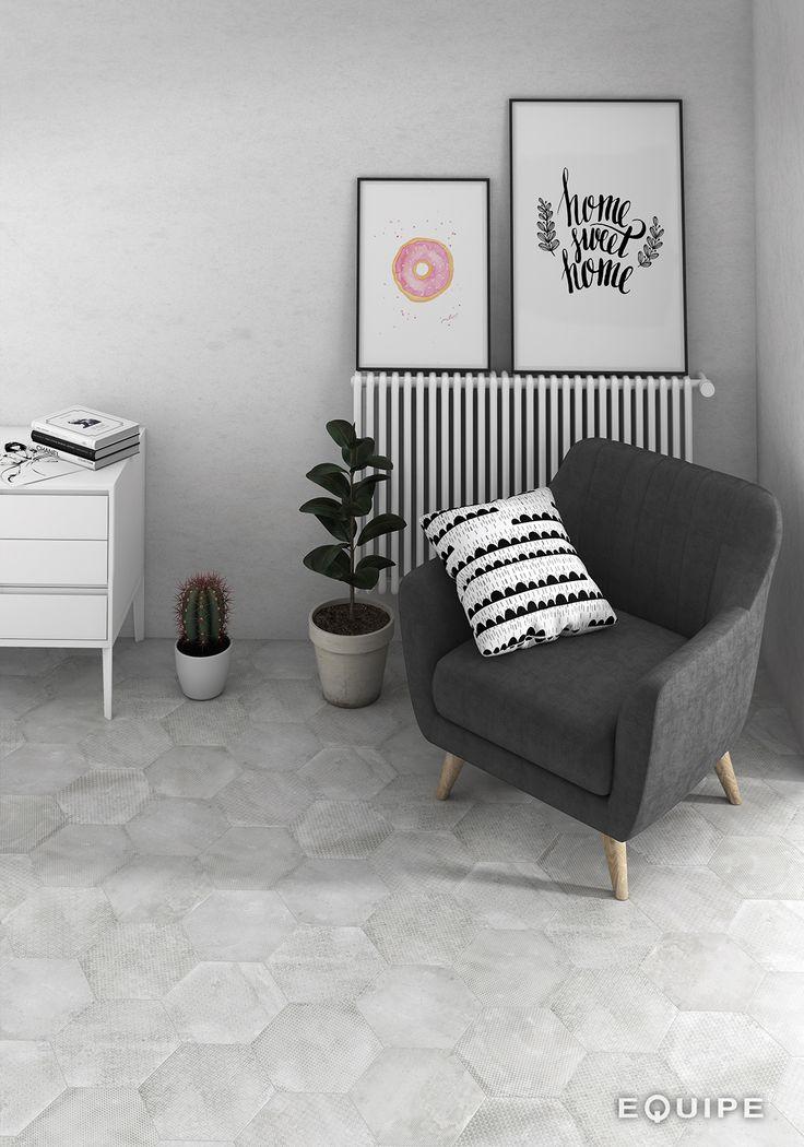 Urban Hexagon deco Mélange Silver 29,2x25,4 cm