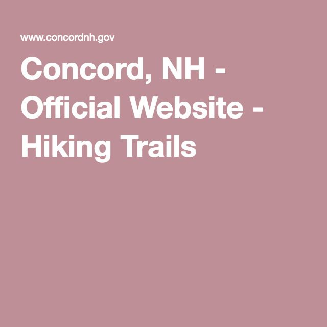 Concord, NH - Official Website - Hiking Trails