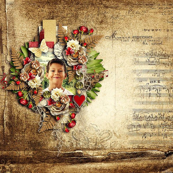 Music Of Yore by Lilas Digiscrap template My photobook clustered edition vol. 1. by Tinci Designs