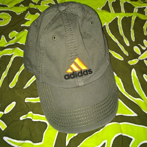 Adidas rustic green baseball cap Rustic olive cap. One size and has adjustable backing. Never worn very new Adidas Accessories Hats