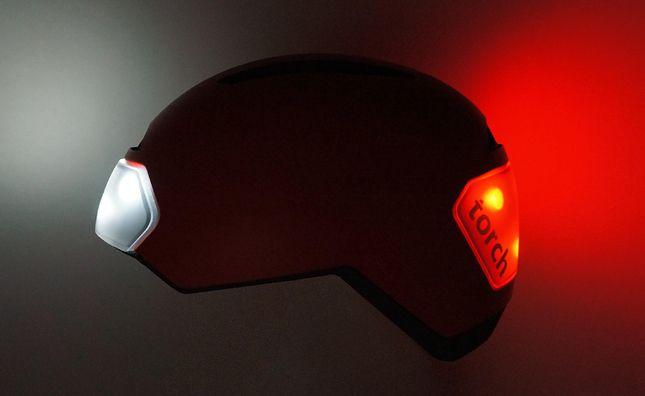 Torch Helmet -- 10 Innovative Bike Gadgets via Brit + Co.