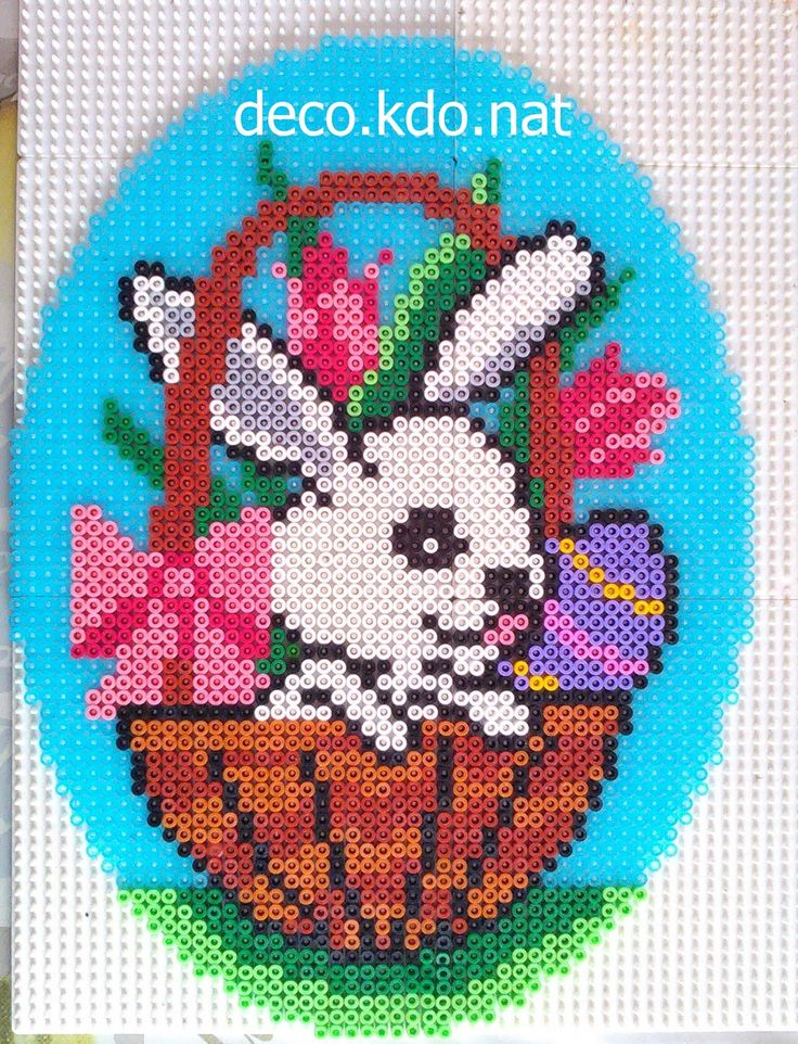 Easter egg hama beads by deco.kdo.nat