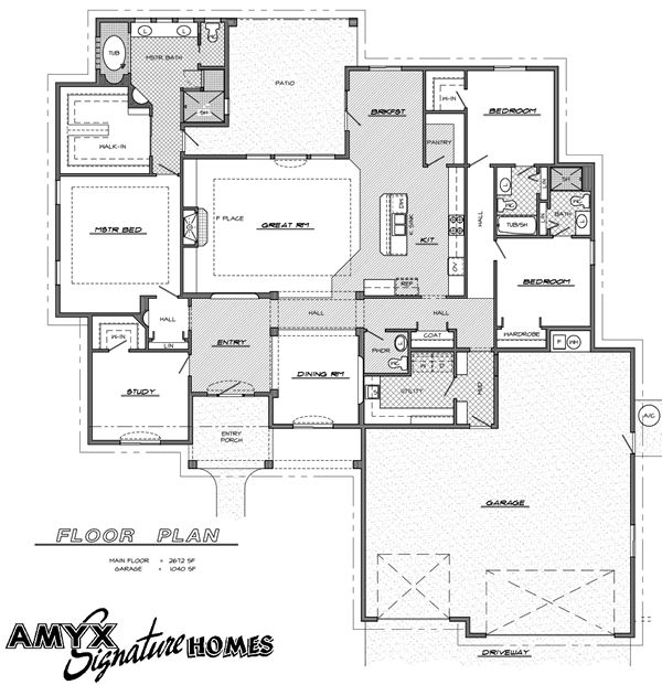 Master suite floor plans arlington floorplan meridian for Custom dream home floor plans