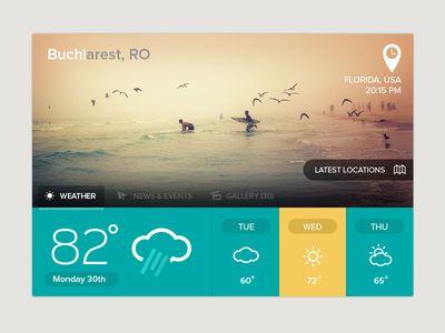 Weather #ui #flatui
