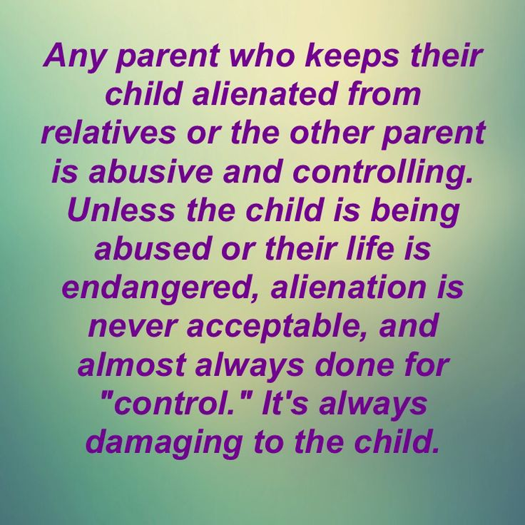 Using children as weapons, pawns, and blackmail because of adult anger and not getting their way
