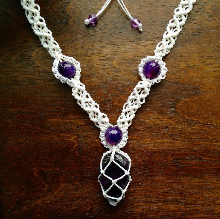macrame necklace tutorial