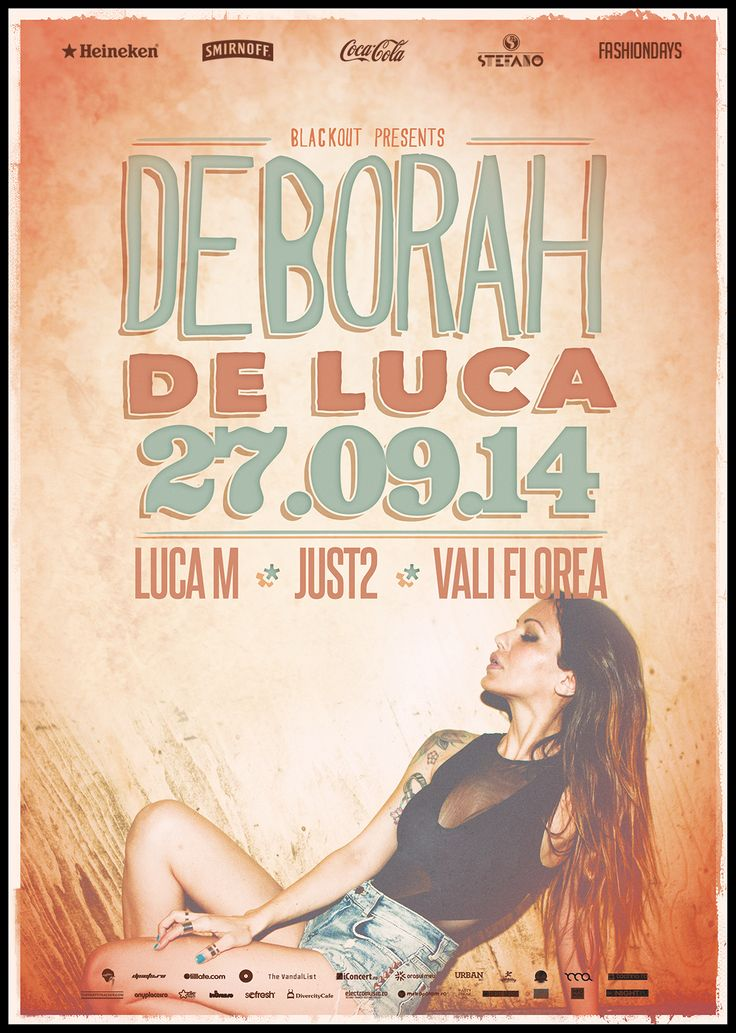 Deborah de Luca for the first time in Timisoara. Blackout!