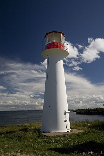 Point Aconi Light, Cape Breton Island, Nova Scotia, Canada.