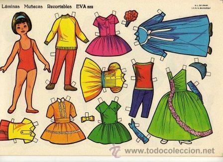 10 Láminas Muñecas Recortables EVA. Nº 851 al 860.