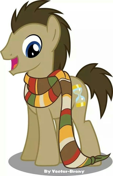 Doctor Whooves with 4's scarf.
