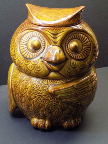 Vintage 1960s McCoy Mid Century Modern TIKI OWL COOKIE JAR #204 EXCELLENT! in…
