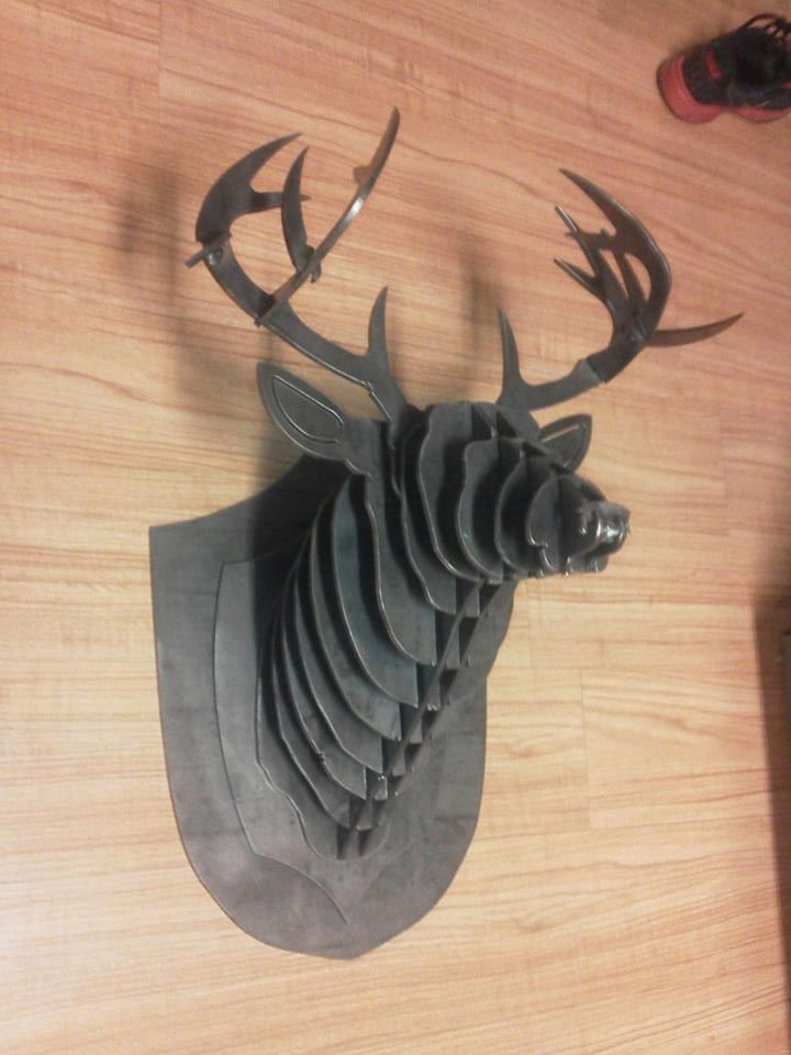 Customer Cut Part deer mount using a BurnTables.com CNC Plasma Cutter