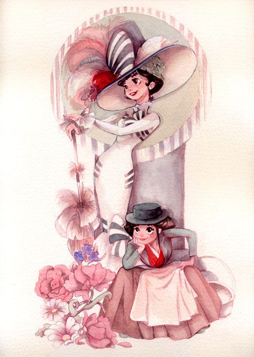 My Fair Lady! <3  She's not a Disney girl at all, but this is how she might have looked if she was one.  Love Eliza.