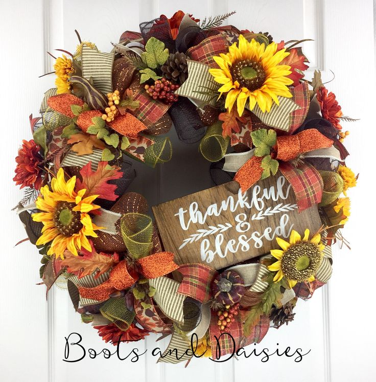 Welcome Guests With Fall Door Decorations: Best 25+ Thanksgiving Mesh Wreath Ideas On Pinterest