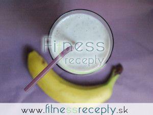 Banánovo  tvarohový koktejl