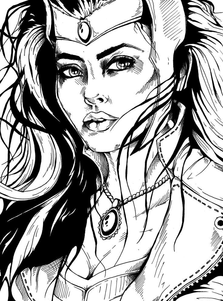 Scarlet Witch - Marvel (Black Scan) by SkmDron on DeviantArt